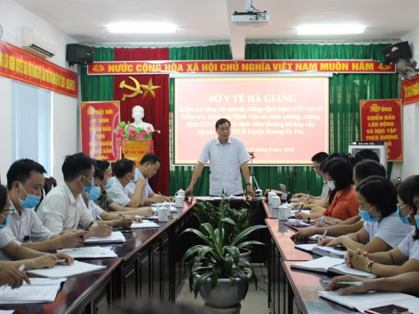 Sở Y Tế Hà Giang kiểm tra công tác phòng chống dịch covid-19 tại Bệnh Viện ĐKKV Hoàng Su Phì