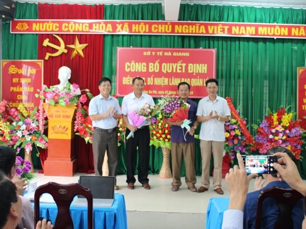Sở Y tế Hà Giang tổ chức buổi lễ công bố quyết định điều động, bổ nhiệm lãnh đạo quản lý