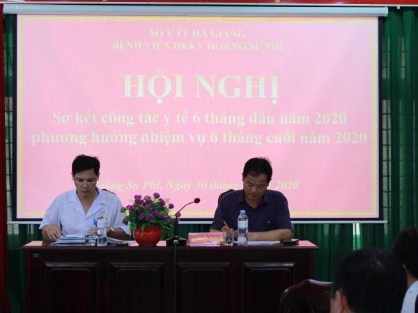 Bệnh Viện ĐKKV Hoàng Su Phì tổ chức hội nghị sơ kết 6 tháng đầu năm 2020